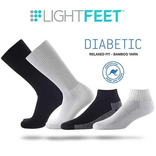 Image Of The Range Of Lighfeet Diabetic Socks