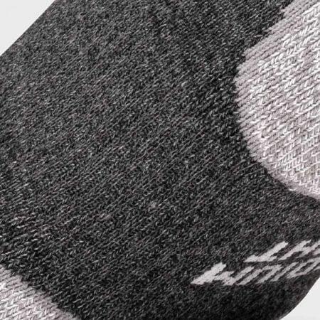 Lightfeet Trail Half Crew Sock in Dark Grey: detail