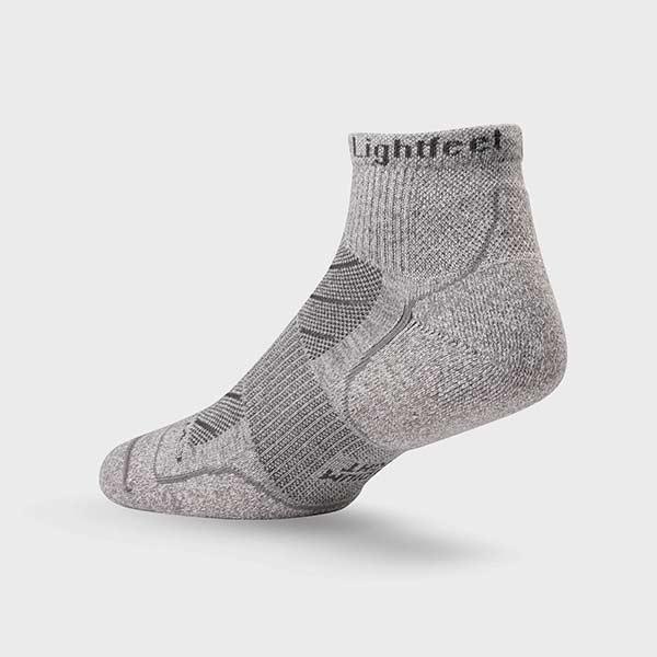 Lightfeet Trail Mini Crew Sock In Light Grey