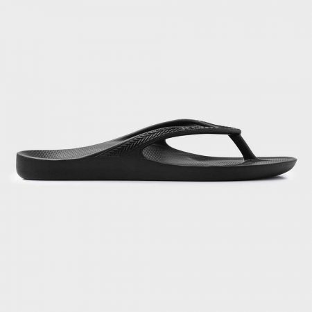 Lightfeet ReVIVE Thong in Black: Sideview