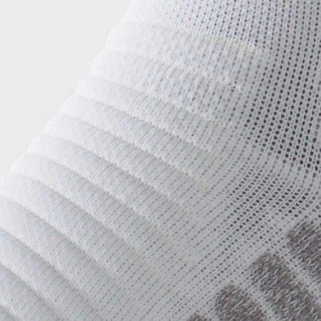 Lightfeet Vector Mini Crew Sock in White: detail