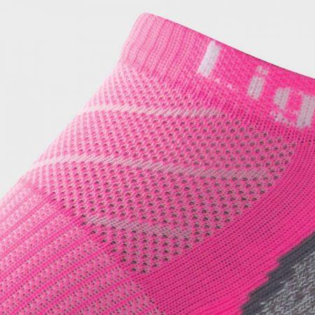 Lightfeet Evolution Mini Sock in Fluro Pink: detail