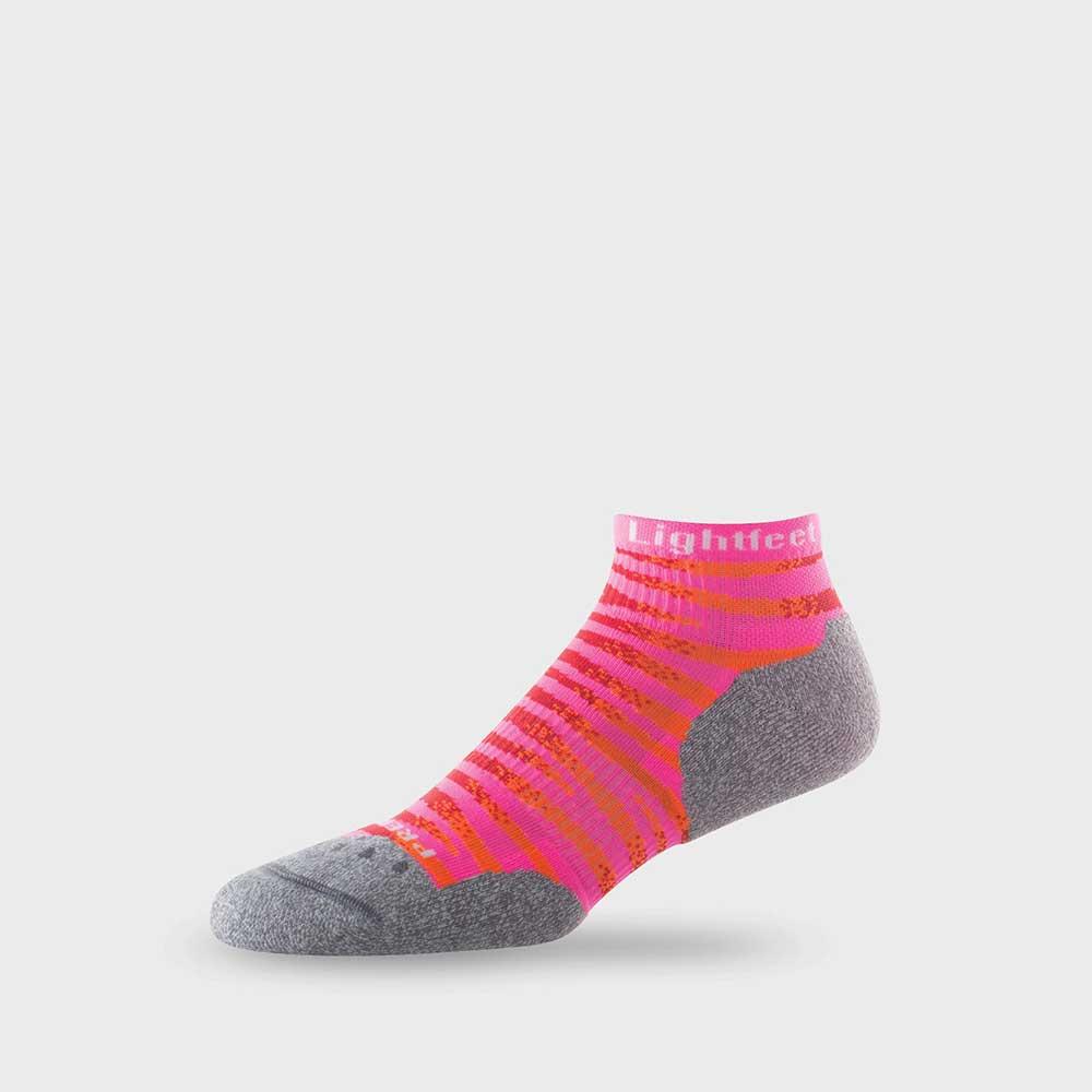 Lightfeet Predator Mini Crew Sock In Fluro, Pink, Red And Orange